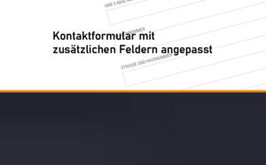 Read more about the article Kontaktformular angepasst